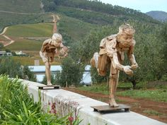 Art in the olive groves at Tokara in Stellenbosch, South Africa