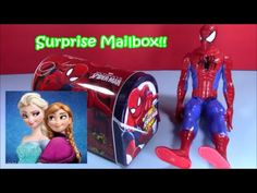 Spiderman Mailbox Mega Surprise! Chocolate Egg Frozen Olaf Angry Birds F...