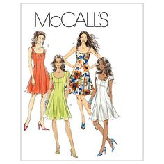 McCall's Misses'/Miss Petite Dresses Pattern M6027 Size AA0 from @fabricdotcom  This pattern contains size AA. <br><a href=https://s3.amazonaws.com/fabric-pdf/McCalls+Pattern+Backs/M6027back.pdf>Click here for pattern back.</a> <br>