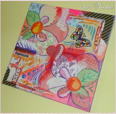 """""""SISTERS"""" My #4 project on canvas - paper decoupage - made for my daughter's room"""