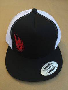 -IT'S ALL ABOUT THE B-Bonfire Junkie logo mesh trucker hat  - black / white, snapback
