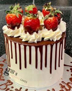 Hen Party Cakes, Chocolate Drip, Cake Makers, Creative Cakes, Celebration Cakes, Baby Shower Cakes, Wedding Cakes, Vanilla, Strawberry