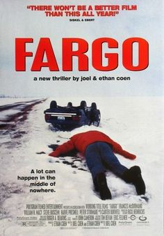 """Fargo"" in 1996 by Joel Coen (St Louis Park and Ethan Coen (St Louis Park American dark comedy-crime film. Frances McDormand is a pregnant police chief who investigates a series of homicides. The film won two Academy Awards for Best Original Fargo 1996, Steve Buscemi, Movies And Series, Movies And Tv Shows, Tv Series, Great Films, Good Movies, Los Hermanos, Cinema"