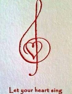 Bass and Treble clef heart - tattoo idea? Description from pinterest.com. I searched for this on bing.com/images