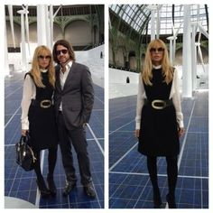 Love this Rachel Zoe outfit: Post-Chanel at the Grand Palais in vintage Pierre Cardin from William Vintage