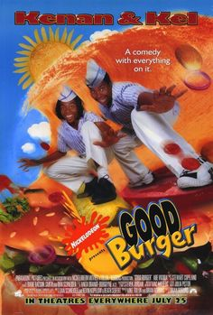 Good Burger is a 1997 comedy film produced by Nickelodeon Movies and released by Paramount Pictures, directed by Brian Robbins and produced by Dan Schneider … Childhood Movies, 90s Movies, Great Movies, Movie Tv, Throwback Movies, Funny Movies, Kenan E Kel, Movies Showing, Movies And Tv Shows