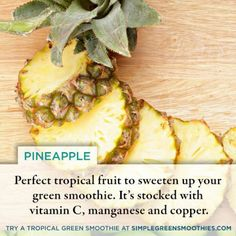 Pinapple benefits Diet Recipes, Healthy Recipes, Healthy Foods, Tropical Fruits, Healthy Dishes, Plant Based Diet, Vitamin C, Health And Wellness