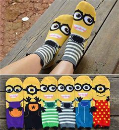 Cute Despicable Me Minions Sock for Lady Cute Minions, Minions Despicable Me, My Minion, Minion Stuff, Minion Shoes, Minion Theme, Minion Birthday, Minion Party, Kids Socks