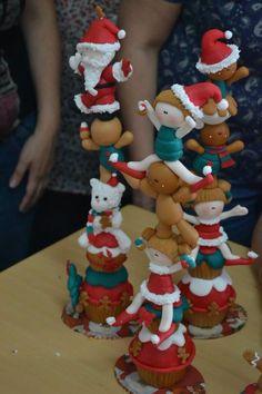 Porcelana fria polymer clay pasta francesa masa flexible fimo fondant gum paste topper modelado modelling figurine xmas christmas navidad natal pascua