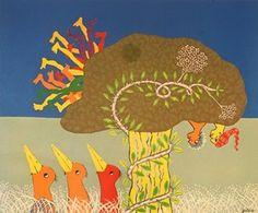 """feeding time"" Walter Battiss Walter Battiss, South African Artists, Indigenous Art, Famous Artists, Artist Painting, Moose Art, Birds, Illustration, Artwork"