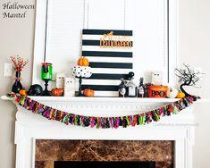 Halloween Mantel #halloween #crafts