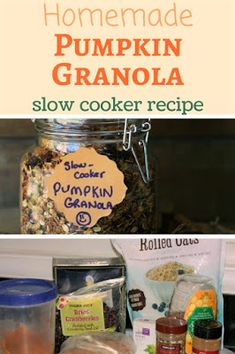 Healthy Recipes : Illustration Description Simple, easy recipe using organic canned pumpkin. Get your Pumpkin Spice fix without a bunch of crazy chemicals! Slow Cooker Recipes, Crockpot Recipes, Healthy Recipes, Cheap Recipes, Easy Recipes, Healthy Food, Yummy Food, Pumpkin Granola, Pumpkin Spice