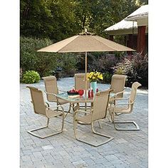 Jaclyn Smith Cora Dining Table with Lazy Susan Patio furniture