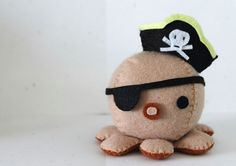 Patterns Felt Octopus Plush by typingwithtea on Etsy, $5.00