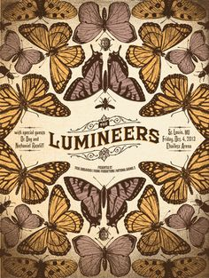 Lumineers poster by Status Serigraph Tour Posters, Band Posters, Theatre Posters, Movie Posters, Poster Wall, Poster Prints, Gig Poster, Vintage Music Posters, Posca Art
