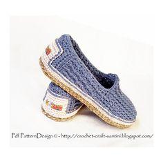 Ravelry: Denim Loafer-Espadrilles - ONE-PIECE BASIC SLIPPER PATTERN pattern by Ingunn Santini