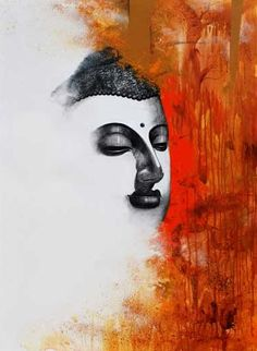 Buy Orange-Red acrylic Painting by artist Narayan Shelke on Canvas, Religious based on theme . Size is 48 × 36 × 0 in. Shipping is from India. Authenticity certificate will be provided for original artworks. Buddha Artwork, Buddha Painting, Krishna Painting, Religious Paintings, Indian Art Paintings, Acrylic Canvas, Canvas Art, Canvas Paintings, Abstract Paintings