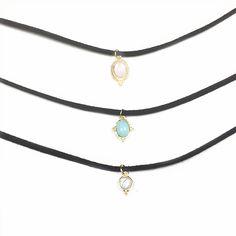 3 unids/set Moda Turquesa Gargantilla Collares y Colgantes Collar de Gargantilla de Terciopelo para Las Mujeres Jewerly Collares de Cuero de Regalo de Navidad