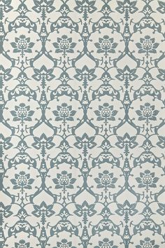 farrow and ball brocade wallpaper - great with orange or yellow accents
