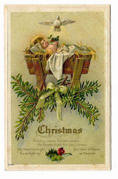 Christmas Vintage Holy Card