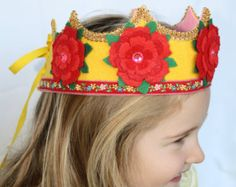 Elsa inspired felt crown for 18 inch doll von IngaAstrid auf Etsy