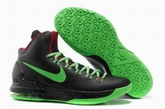 lowest price bd822 86602 Black and Green Nike Zoom KD 5 554988 036 Kevin Durant Basktball Shoes