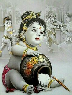 Butter Thief Krishna poster-reprint on inches) - Car Recommendation For Womans Krishna Lila, Little Krishna, Cute Krishna, Radha Krishna Photo, Krishna Radha, Lord Krishna Images, Radha Krishna Pictures, Krishna Photos, Lord Krishna Wallpapers