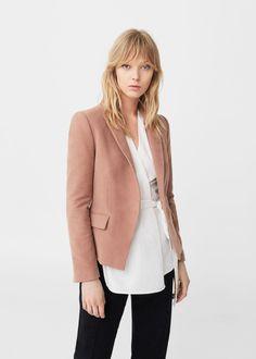 Structured cotton blazer -  Women | MANGO USA