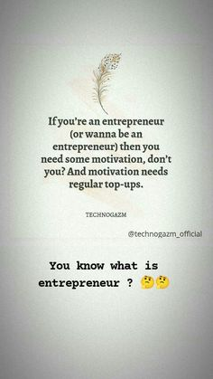 First thing that you have to know is what is entrepreneur....🙌🙌 , if you know then comment below to help other people....🙌🙌 . . for more follow @technogazm_official @technogazm_official @technogazm_official . . #motivationalquotes #motivation #motivational #entrepreneur #businessman #business #entrepreneurship #entrepreneurlife #technogazm_official #technogazm #metatechie #tech #digitalmarketing #digitalindia #technogazm #technogazm_official . . for more visit technogazm.com