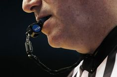 The whistle of the referee is an important symbol in the sport and is respected by all players.
