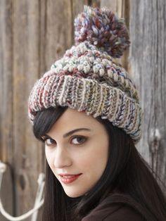 Big Stitch Hat & Cowl   Yarn   Free Knitting Patterns   Crochet Patterns   Yarnspirations