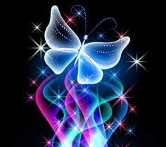 Animal Wallpapers | Neon Butterfly Desktop Background wallpapers HD free - 497368