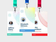 Badge type system created for F8 event; all badges were printed onsite with their information and their personalized Facebook Messenger QR code to encourage people to friend the people they meet at...