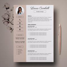 Modern Resume Template, CV Template for Word. Template Cv, Modern Resume Template, Resume Templates, Resume Format, Resume Cv, Resume Tips, Resume Skills, Basic Resume, Resume Ideas