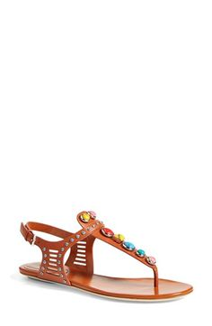 Gucci 'Lika' Stone Detailed Sandal (Women) available at #Nordstrom
