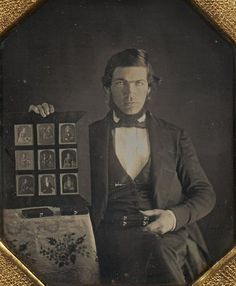 Daguerreotypist with Daguerreotypes, 1845