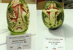 Watermelon Art: 20 Awesome Carvings (Watermelon art, watermelon carvings) - ODDEE