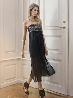 SENSIA CORSAGE DRESS, Black, main