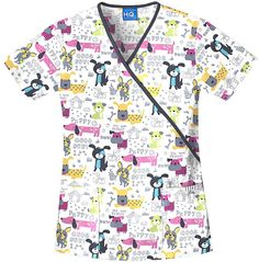 80ab7bf0ad4 Here Boy Contrast Mock Wrap Scrub Top | Cherokee Scrub H.Q. Uniform Outlet,  Uniform Shop