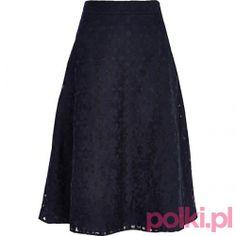 Granatowa spódnica midi River Island #fashion #polkipl #bebeauty #moda #style #trendy #totallook