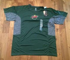 NWT Mens NHL Minnesota Wild Active Performance Top Size XL X-Large