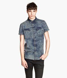 H&M Short-sleeved Denim Shirt $19.95