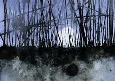 Reed beds(watercolour landscapes)/ by Paul Bailey/  8.5 x 6 inches  2011