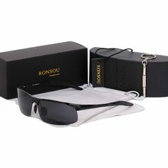 aa293a2f1ff5e Ronsou Men Sport Al-Mg Polarized Sunglasses Unbreakable For Driving Cycling  Fish  affilink