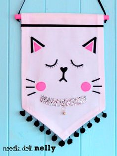 The Cat Banner Canvas wall banner Banner by NoodledollNelly