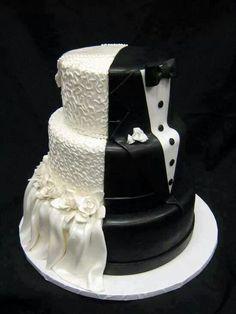 Pastel de boda para el y para ella