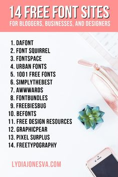 Free Font Sites for Bloggers, Designers. #HeritageTypeCo #Design #FontDesign #LogoDesign #GraphicsDesign #DesignResources