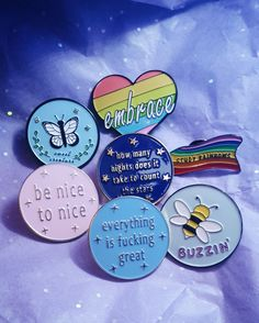 Enamel Pins, Lapel Pins, Bees, Butterflies, lgbt Pins, Harry Styles, Enamel Pins Cute, Harry Styles Pins and Patches, Louis Tomlinson, Rainbow Enamel Pin #pinsandpatches