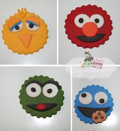 Sesame Street Fondant Cupcake Toppers....just ordered these for Hunter's half birthday :)
