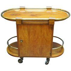 Drinks Trolley of Burr Walnut from the Art Deco Era